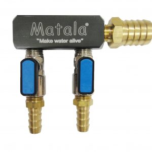 Matala Two (2) Valve, Heavy Duty, Air Manifold - 1/2 inch barb