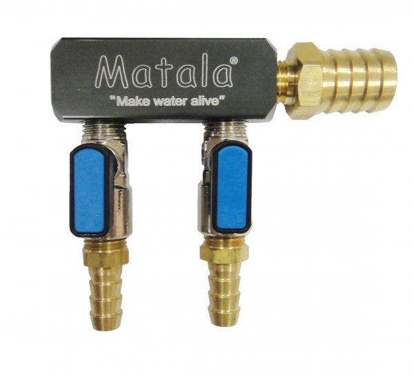 Matala Two (2) Valve, Heavy Duty, Air Manifold - 1/2 inch barb