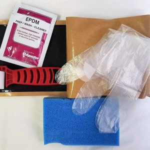 EPDM Liner Repair Kit - Complete kit for patching and repairing damaged EDPM pond liner