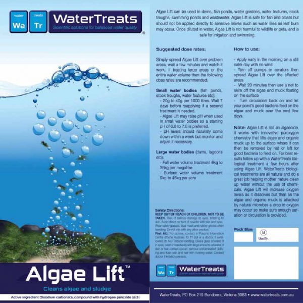 Algae Lift - Water Cleaning Treatment - Cleans Algae And Sludge