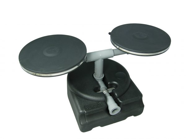 """Matala 2 x 9"""" Fine Bubble Membrane Diffuser Discs Plus Single Base Clearwater Lakes and Ponds"""