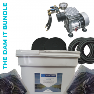 THE DAM IT BUNDLE - Matala Lake Pro 2 Aeration System, biostim pellets biological water treatment for improving water quality and pond dye for colouring water