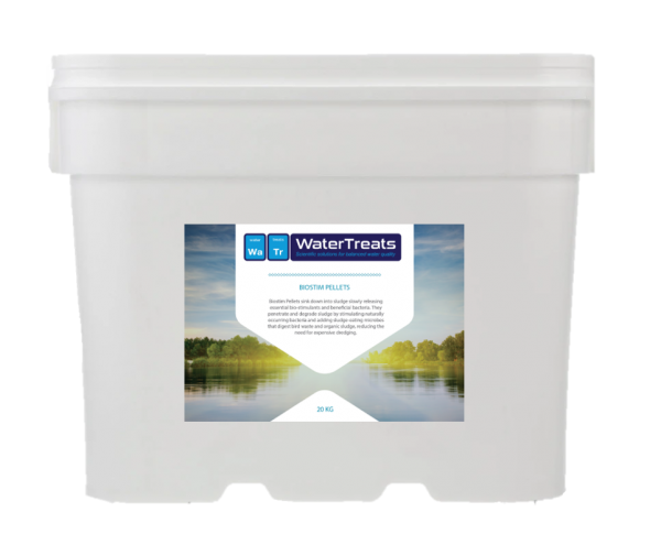 Biostim Pellets - biological treatment for improving water quality and boosting beneficial bacteria levels.