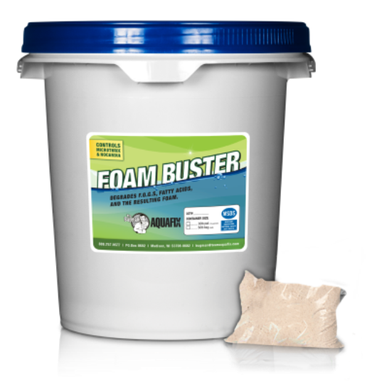 Foam Buster reduces foaming, sludge, BOD and TSS.