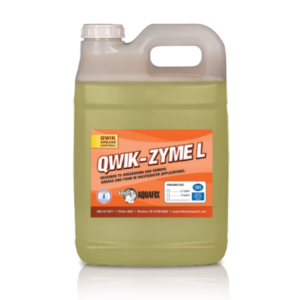 Qwik-Zyme L is the perfect grease degrader for wastewater treatment lagoons and plants. This treatment is effective against many FOG causing compounds.