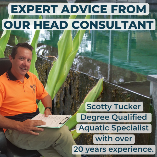 EXPERT POND ADVICE FROM OUR HEAD CONSULTANTScott Tucker Aquatic Specialist MBA B. AgBus Aquaculture (Hons)