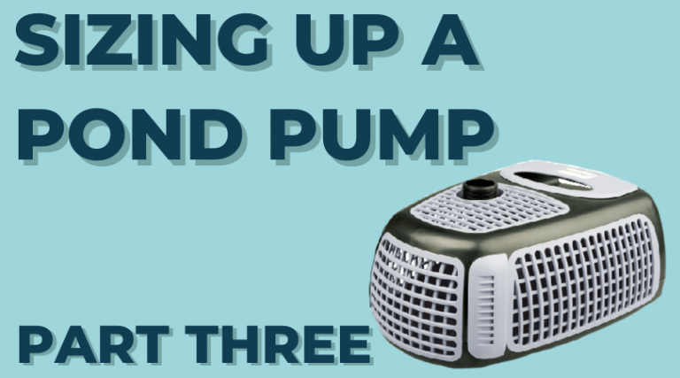 SIZING UP A POND PUMP – PART THREE – How To Select The Right Pond Pump For Your Backyard Pond